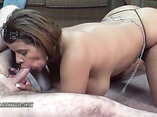 Latina MILF Angel sucking some dick