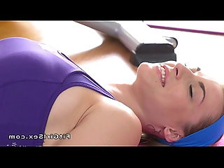 Firm body lesbian Milf licked after training