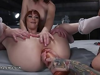 Lesbian gets deep anal penetration