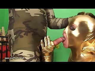 crazy spandex couple in wild anal sex