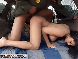 Cop handcuffs Stunning Mexican floozie Alejandra Leon attempts to