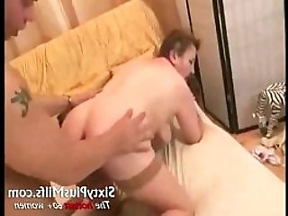 Fat granny whore fucked with toy