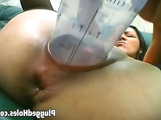 Horny brunette in solo action