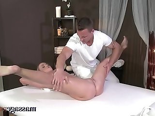 Massage Rooms Flexible blonde cock in her perfect pussy
