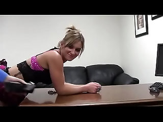 blonde porno casting