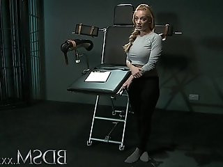 BDSM XXX Slave girl fuck with massive breasts gets it hard with orgasm