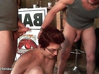 Amateur squirt redhead slut ass fucked and fisted hard threesome outdoor