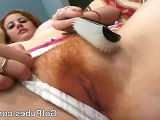 Hottie taking cocks in her hairy cunt