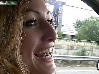 Driving with Giulia Amateur Foot Fetish