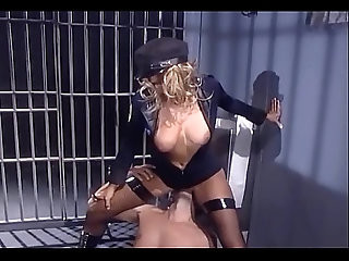 Female in uniform and fishnet stockings fucking