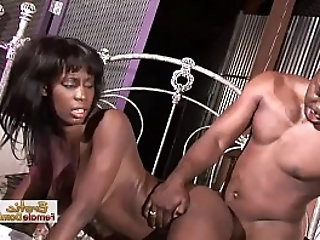 Sexy Long Black Beauty Slammed On The Bed