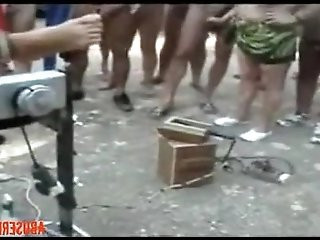 Pervert Whores Used at Nude Camping Amateur Public... rough