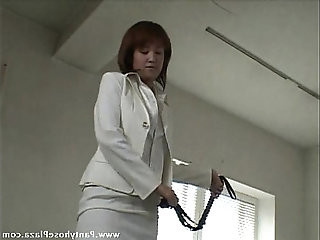 Poor slave got his body endlessly whipped by mistress