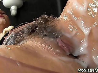 Glam hottie gets fucked and creamed