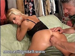 Horny blond babe is brutally fisted and ass fucked