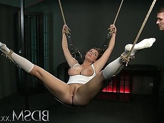 BDSM XXX Beautiful Slave girls are Shackled before pleasing their Masters
