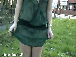 Welsh blonde nude Loz Lorrimars public masturbation and wild outdoor flashing