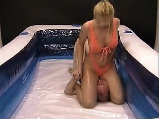 Mixed Oil Wrestling Muffled Groans Lucy