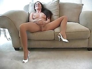 Kobi Teasin and Pleasin in a Red Dress and Pantyhose II