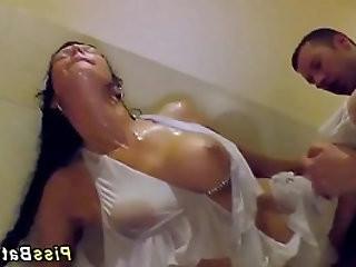 Hot ho gets golden shower