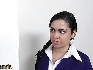 Teen fucked in uniform