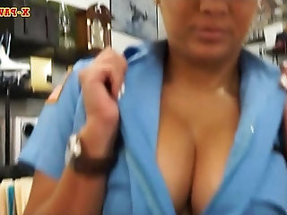 Busty and big ass latina officer screwed by pawn guy
